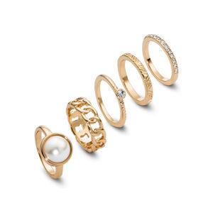 5-részes gyűrű-szett bonprix