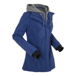 Hosszú softshell kabát dupla hatással bonprix