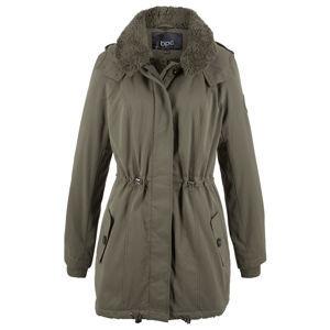 Hosszú téli kabát teddy gallérral bonprix