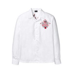 Hosszú ujjú ing hatalmas mintával a hátoldalán bonprix