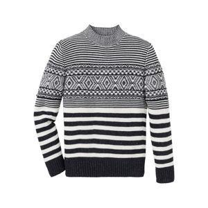 Mintás pulóver Regular Fit bonprix