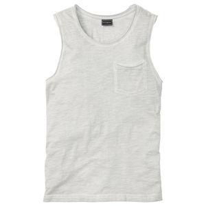 Ujjatlan póló kopott hatással Slim Fit bonprix